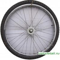 """Заднее колесо 24"""" со стальным хромированным ободом под советскую заднюю втулку."""