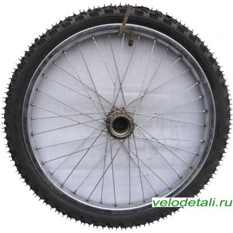 """Заднее колесо 20"""" со стальным хромированным ободом под советскую заднюю втулку."""