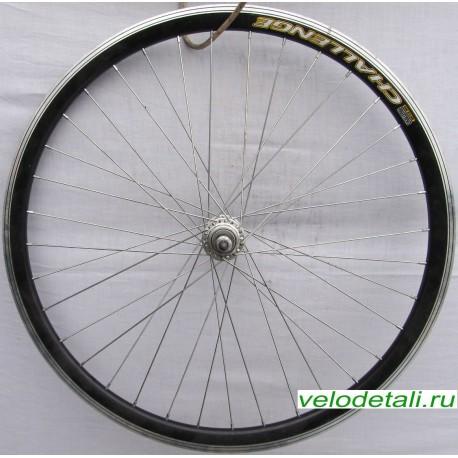 """Заднее колесо 28"""" с алюминиевым двойным ободом, подходит к велосипедам с 6-7-8 звёздочками."""