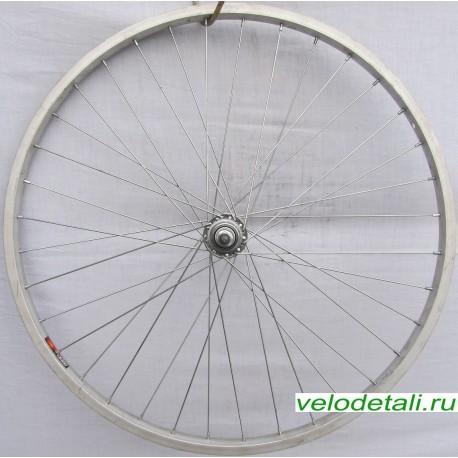 """Заднее колесо 26"""" алюминиевое одинарное. Подходит под трещётку 6-7-8 звёздочек."""