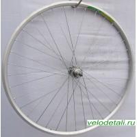"""Заднее колесо 27""""-28"""" с двойным алюминиевым ободом, с хромированной стальной задней втулкой, с диаметром оси 10 мм."""