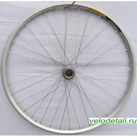 """Заднее колесо 28"""" с двойным алюминиевым ободом под советскую заднюю втулку."""