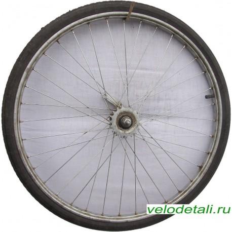 """Заднее колесо 24"""" со стальным анодированным ободом, под советскую заднюю втулку."""