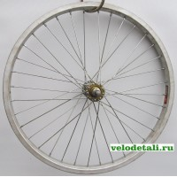"""Переднее колесо 20"""" с алюминиевым ободом, с осью диаметром 9.5мм, крепится гайками."""