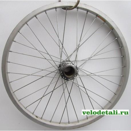 """Заднее колесо 20"""" с алюминиевым ободом, под китайскую односкоростную заднюю втулку."""