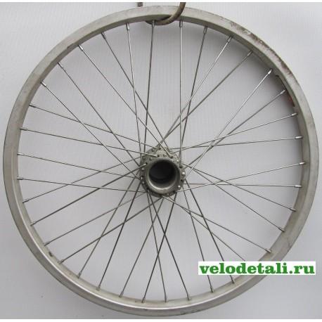 """Заднее колесо 20"""" с алюминиевым ободом под советскую заднюю втулку."""
