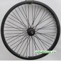 """Заднее колесо 20"""" ВМХ с алюминиевым ободом, с осью диаметром 9.5 мм, крепится гайками."""