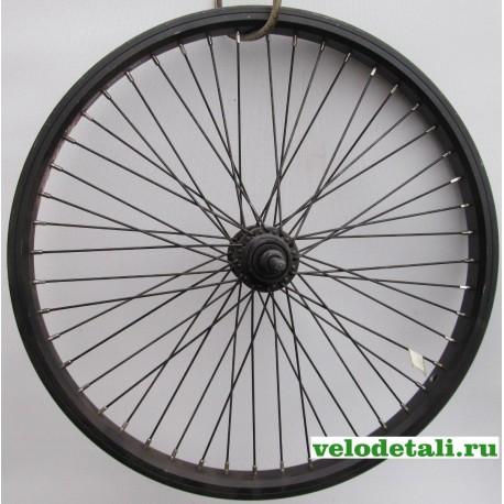 """Заднее колесо 20"""" ВМХ с двойным алюминиевым ободом , с осью диаметром 9,5 мм, крепится гайками."""