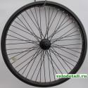 """Заднее колесо 20"""" ВМХ с двойным алюминиевым ободом, с осью диаметром 14 мм."""