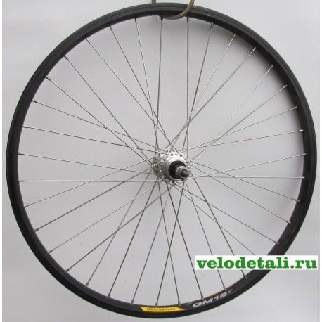 """Заднее колесо 24"""" с алюминиевым двойным ободом, со спортивной задней втулкой, с осью диаметром 9,5 мм."""