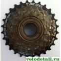 Звездочки заднего колеса для велосипеда производства фирмы SHIMANO. Трещётка c шестью звёздочками.