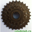 Звёздочки заднего колеса для велосипеда. Трещётка с пятью звёздочками.