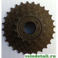 Звёздочки заднего колеса для велосипеда. Трещётка с шестью звёздочками.