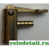 Стальной наконечник для велосипеда на шланг для автомобильного насоса.